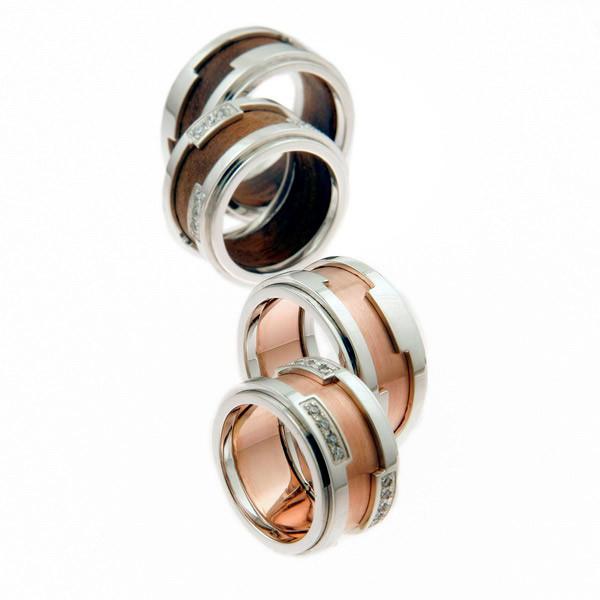 poročni prstani belo rdeče zlato
