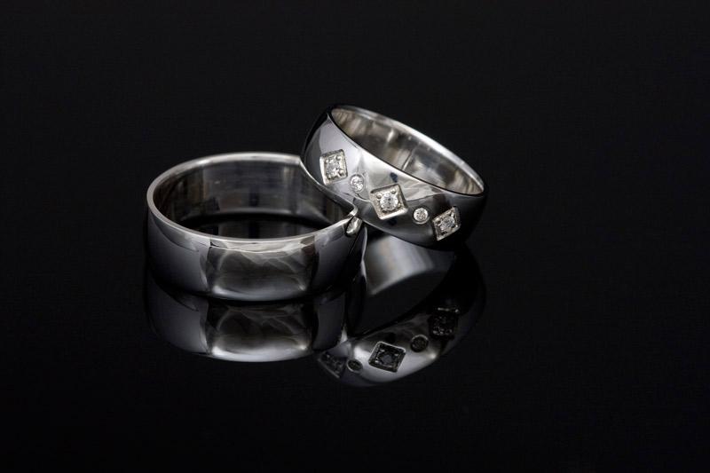 Poročni prstani belo zlato