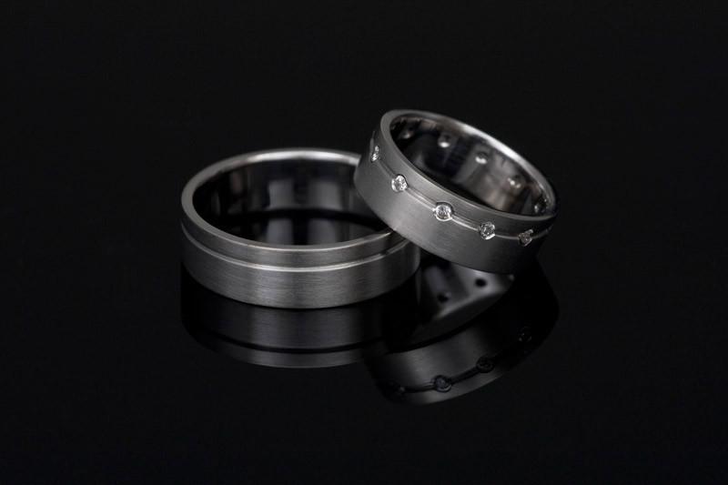 Poročni prstani plemenito jeklo