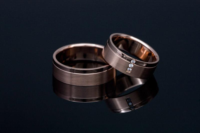 Poročni prstani rdeče zlato